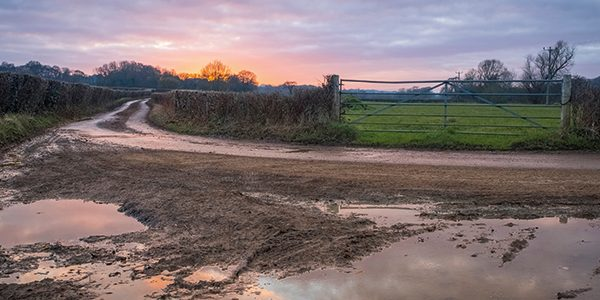 Dishing the dirt on muddy roads