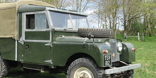 Vintage machinery sale includes Series 1 Land Rover